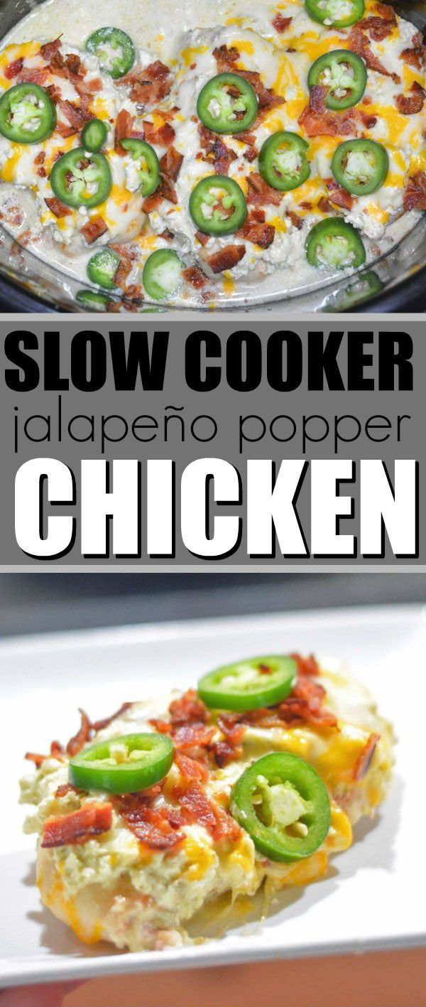 Cocción lenta Jalapeño Popper Chicken | Dieta cetogénica Crockpot #Crockpot #SlowCoo …