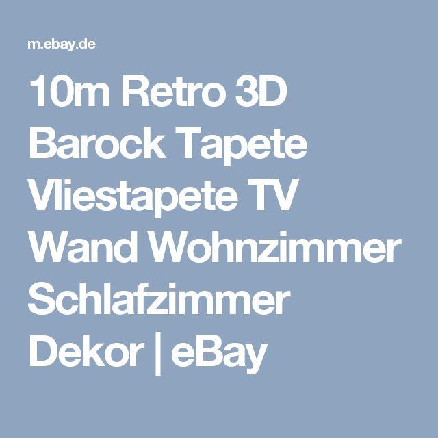 10m Retro 3D Barock Tapete Vliestapete TV Wand Wohnzimmer Schlafzimmer Dekor  | eBay