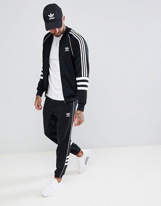 999b3f83814b adidas Originals   adidas Originals Authentic Superstar Track Jacket In  Black DJ2856