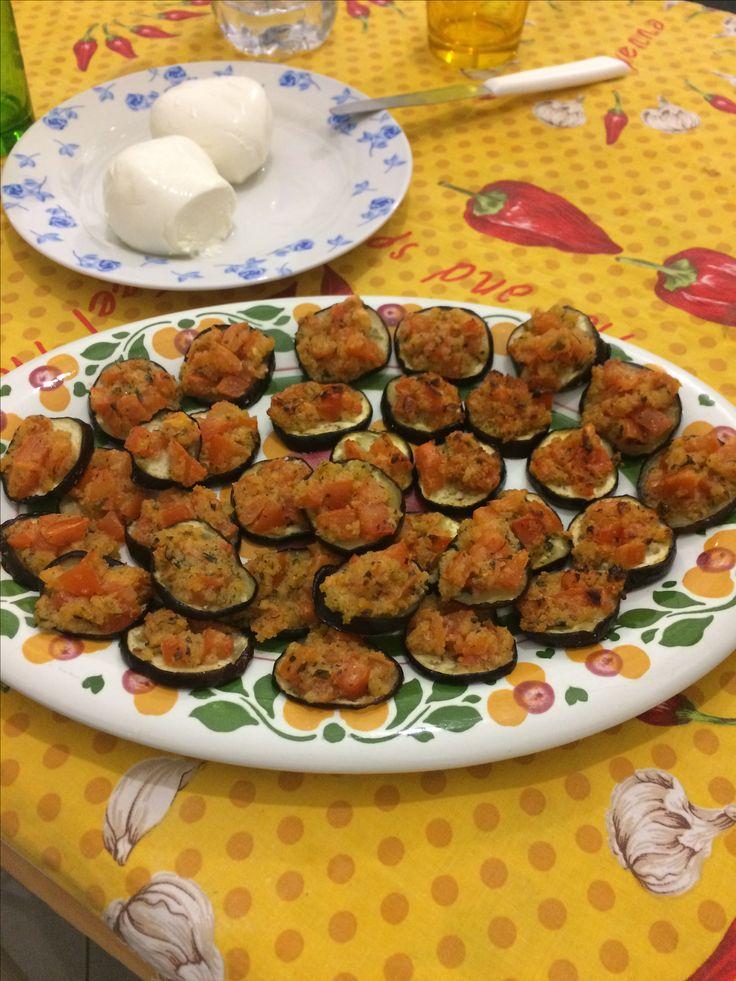 Melanzanine gratinate con pomodorini, al forno ✌🏻