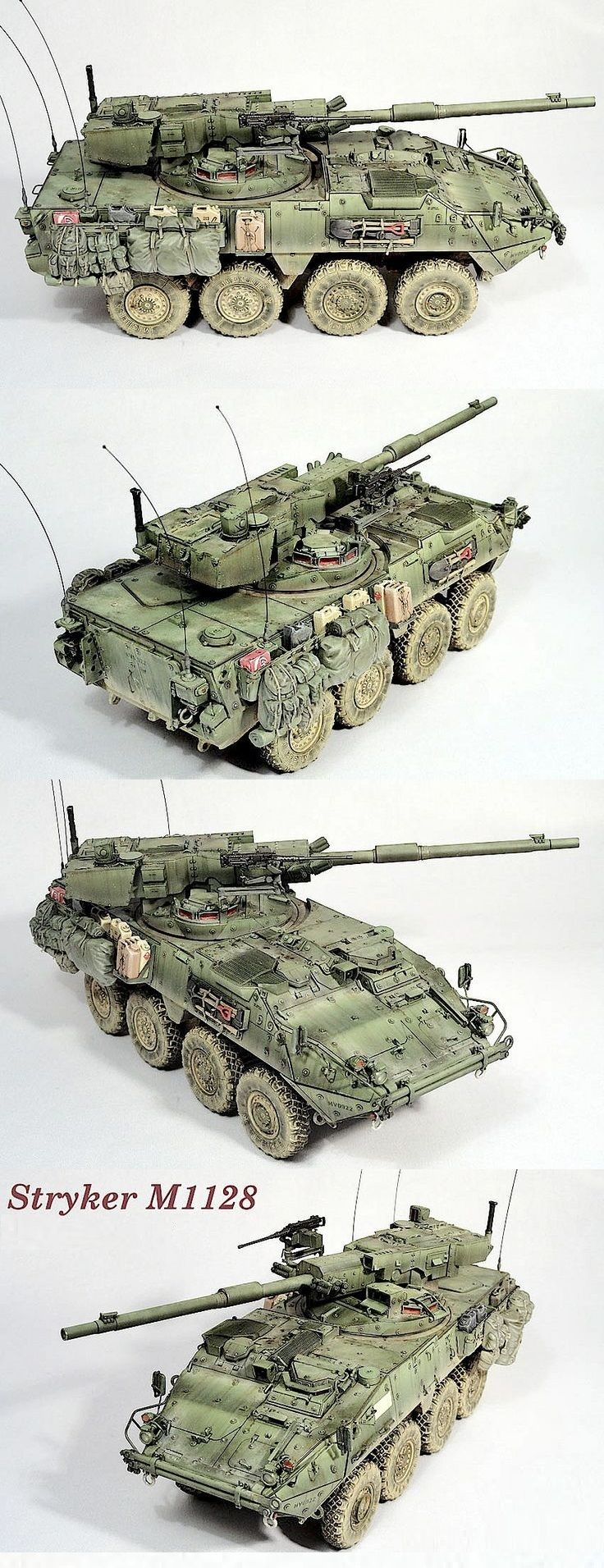 M1128. Very well thought through and executed. Fading technique is just bang on. It's really helping tho shape the model and make it look like it's actually full scale size