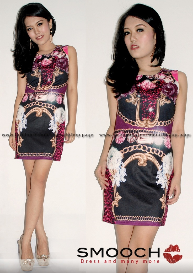 Dominique Dress Magenta For more info please kindly visit and likes our Facebook Page : www.facebook.com/Smoochshop.page 