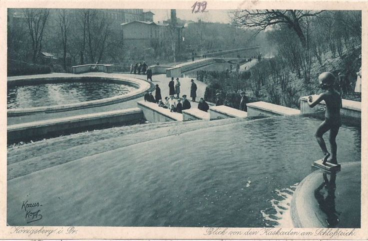 KÖNIGSBERG, fountain cascade installed near the Schlossteich (lit. castle-pond) which became a park-like area for public leisure in the heart of town. Jeff