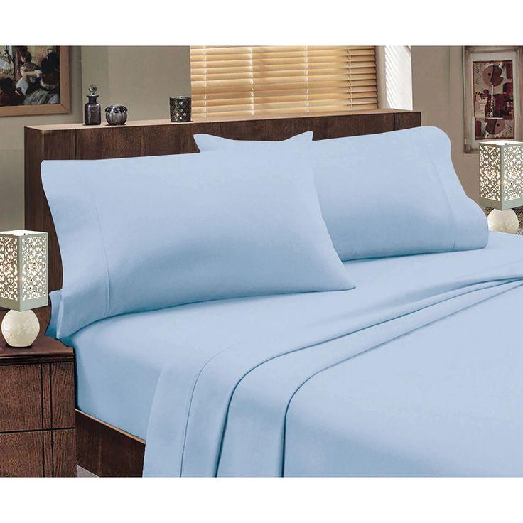 Jenny Mclean Queen Flannelette Sheet Set in Blue | Buy Queen Sheet Sets
