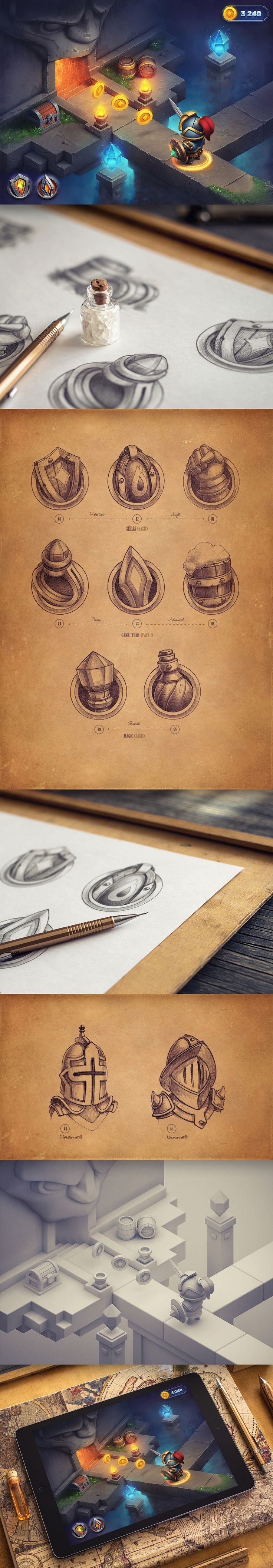 Dribbble - rpg_game_-_ios_art.jpg by Mike | Creative Mints