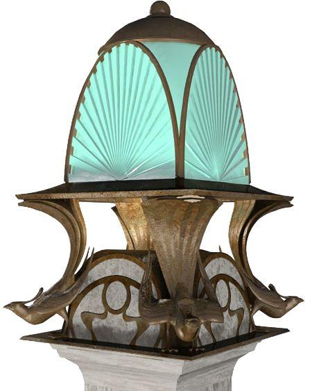 """Фонарь с птицами на столбике. Коллекция """"Учелло"""". Садовые фонари. Уличное освещение"""