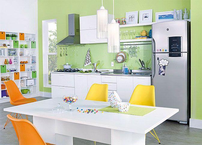 Armario Area De Serviço Casas Bahia ~ Tok&Stok Cozinha Use cores vibrantes, eletros modernos e móveis minimalistas para deixar a