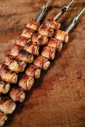 Recipe: Bacon-Wrapped Chicken Breasts (Peito de Frango com Toicinho) from Churrasco: Grilling the Brazilian Way