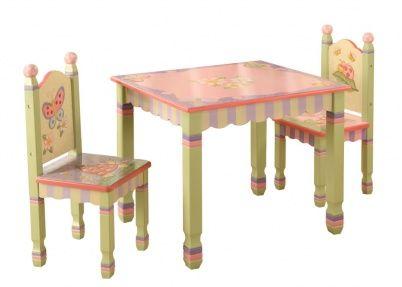 Tafeltje en stoeltjes met dieren, Magic Garden   Tafeltjes & stoelen