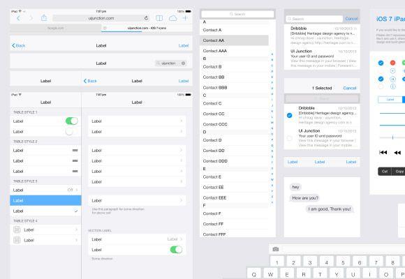 iOS7 iPad UI Template - Freebiesbug