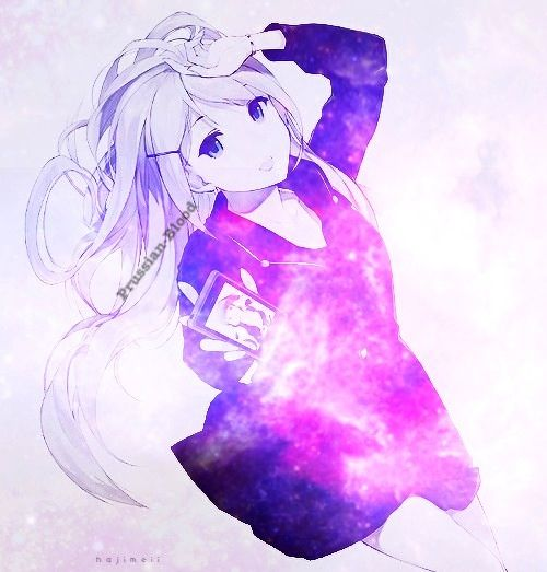 Galaxy Anime Girl Edit by Prussian-Blood by ᗩs-ᖴates-ᕼave-It | We Heart It