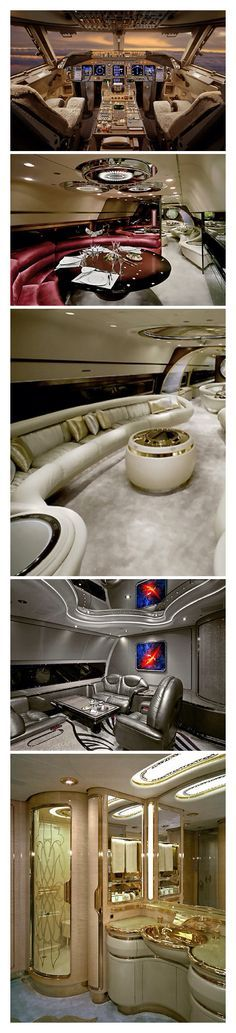 Luxury Style - living in your own Private Jet. Check out these ideas for inspiration #luxury #style