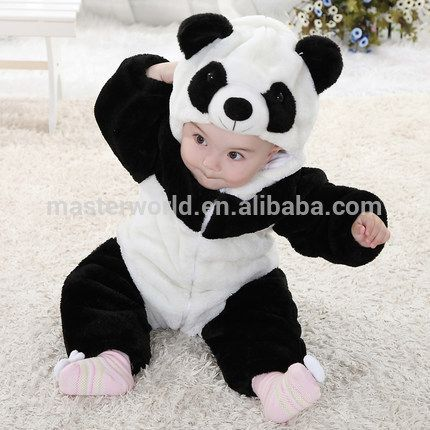 2015 cute panda baby clothes wholesale long-sleeved baby rompers