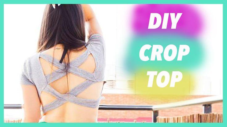 DIY CREA TU PROPIA CAMISETA CROP TOP /geraldine nice - YouTube