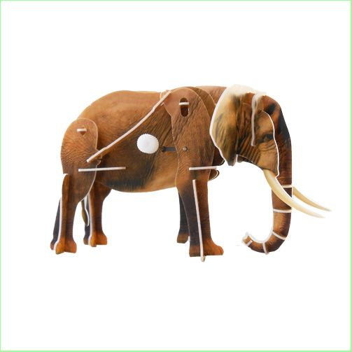 3D Wind Up Toys Puzzles - Elephant - press out the pieces, slot together, wind it up, watch it walk. www.greenanttoys.com.au