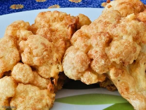 Receita de Couve - flor frita