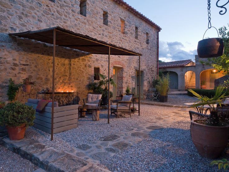 Hotel le Mas Trilles, in Ceret Southern France. A chic-rustic converted farmhouse, perfect for relaxing and soaking up the sun.
