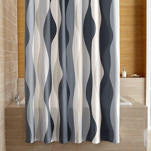 Italian Seersucker Blue Shower Curtain by Crate & Barrel.jpg