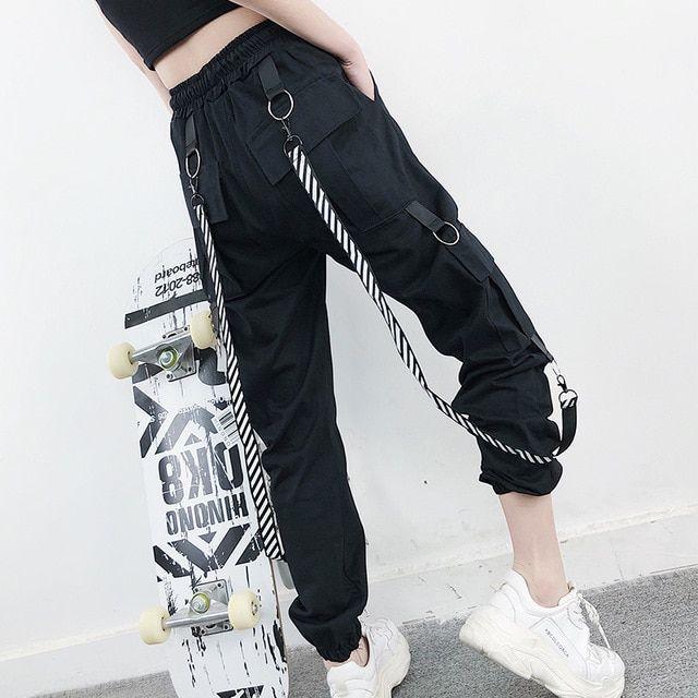 Men Pants Outdoor Summer Plus size 2019 Trouser Loose Hip hop Fashion Casual