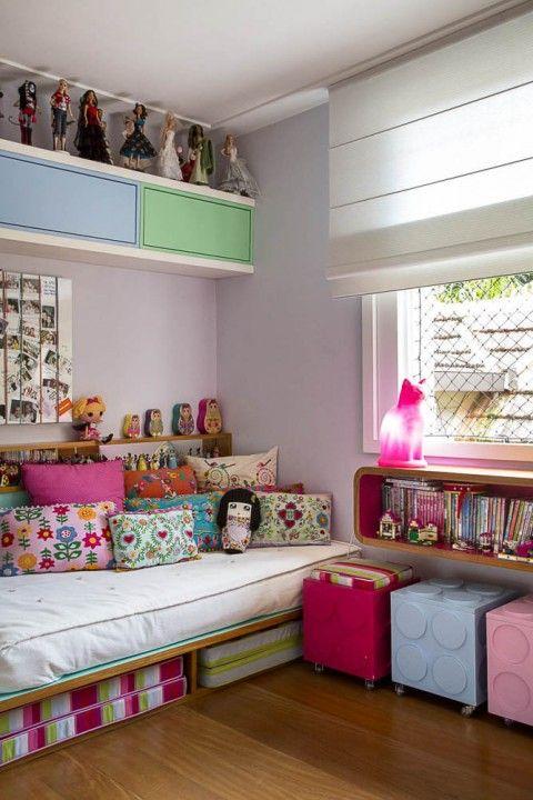 Sabe aquele quarto descolado, lotado de bonecas, marcenaria planejadíssima feita…
