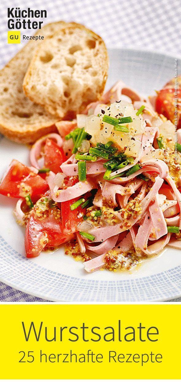 Manchmal muss es nur herzhaft sein: Unsere 25 # Wurstsalat-Rezepte sind nicht …   – Salat-Rezeptideen