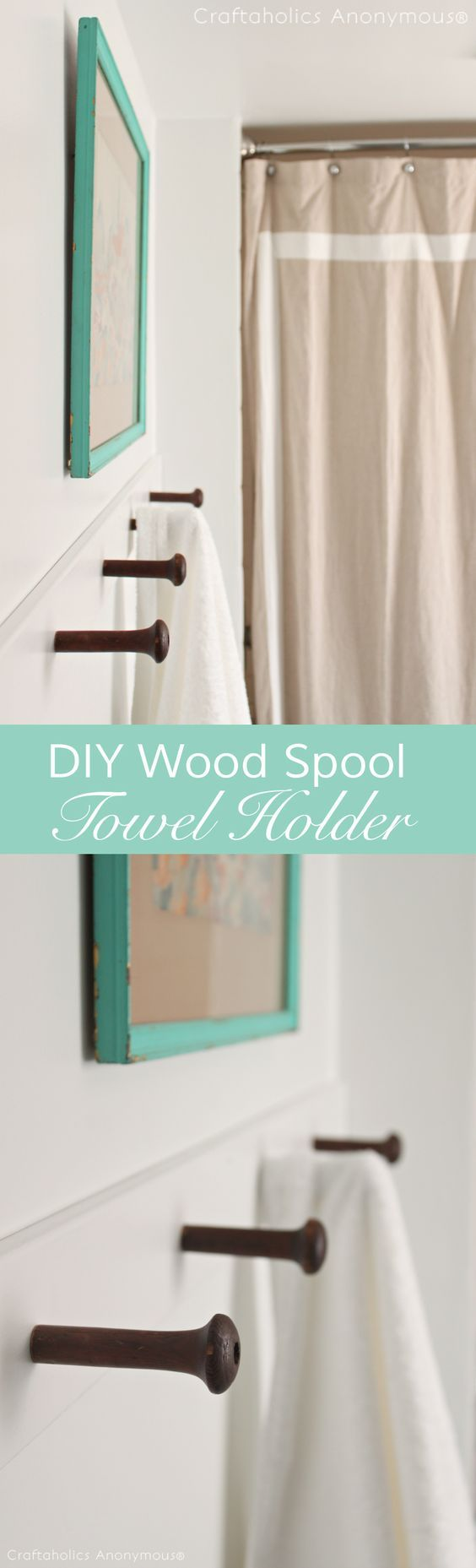 A towel holder idea that is so vintage! Power tool tutorial included of course.
