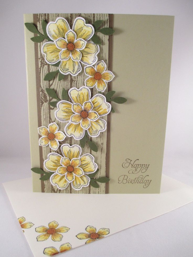"Stampin Up ""Flower Shop"" Handmade Happy Birthday Card in Crafts, Handcrafted & Finished Pieces, Greeting Cards & Gift Tags 