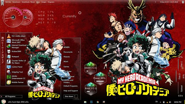 Anime Skin: Theme Anime Windows 7 Boku no Hero Academia By Bas...
