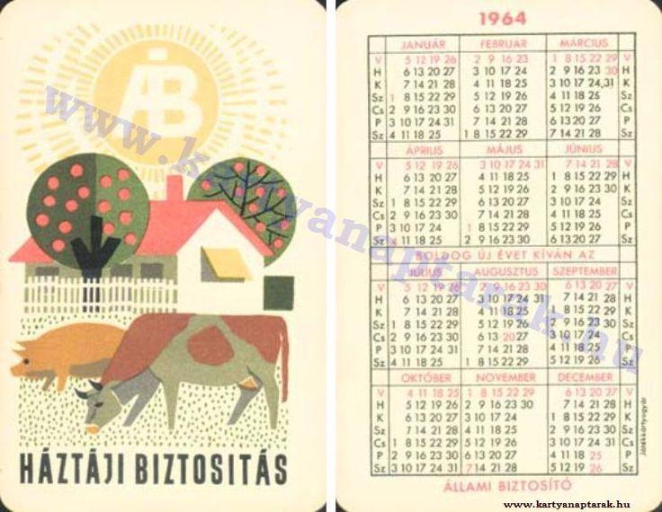 1964 - 1964_0161 - Régi magyar kártyanaptárak