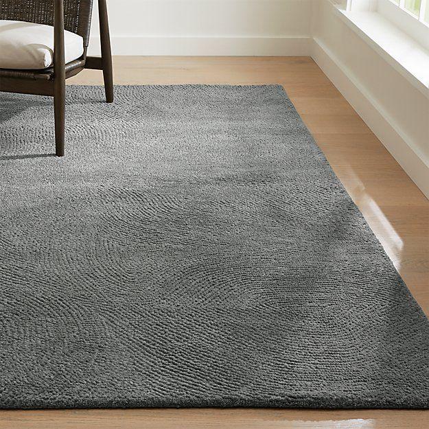 Alfredo Ivory Wool Rug Crate And Barrel In 2020 Grey Wool Rugs Plush Carpet Buying Carpet