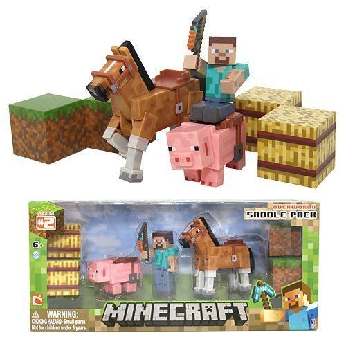 US $39.90 New in Toys & Hobbies, TV, Movie & Character Toys, Other. Set Minecraft Figure Steve Action New Toy Figures Overworld Series Pack Jazwares