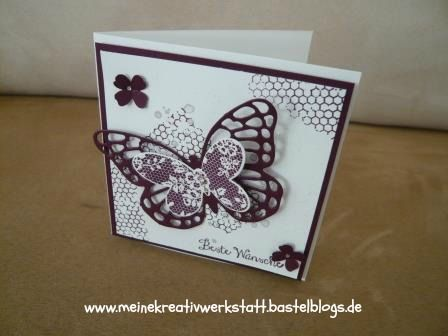 Karte Stampin up, Schmetterlingsgruß