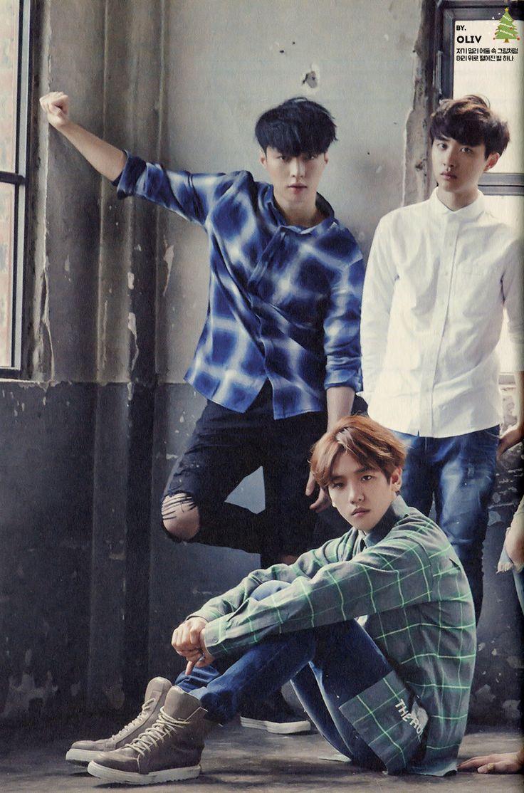 Baekhyun, Lay, and Kyungsoo