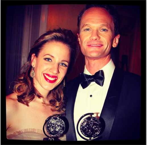 Tony winners Jessie Mueller and Neil Patrick Harris #TonyAwards