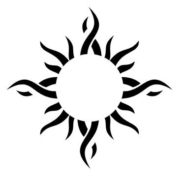 Small tribal wrist tattoo design image.More at Wrist Tattoo
