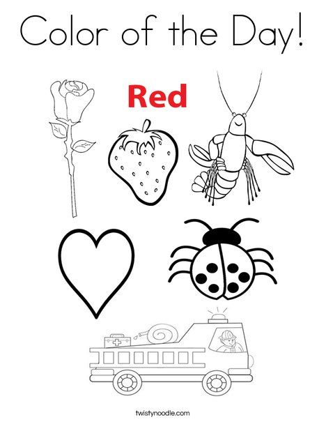 color of the day coloring page from twistynoodlecom color activitiespreschool