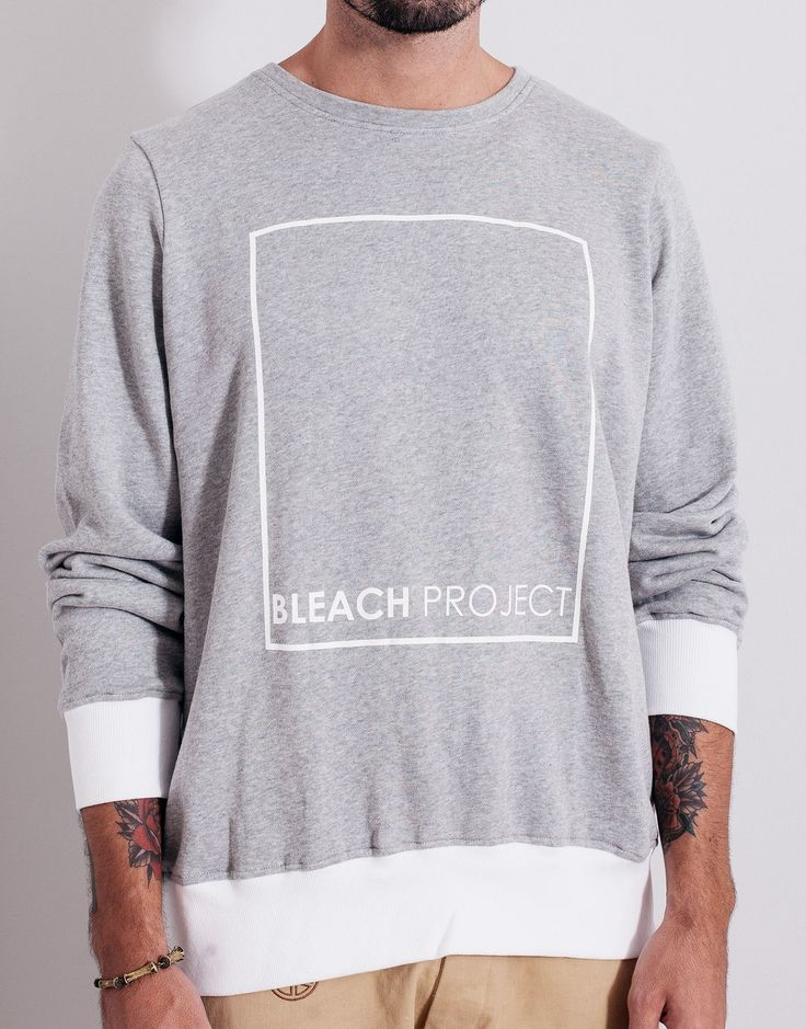 Bleach BP Square Sweater Grey