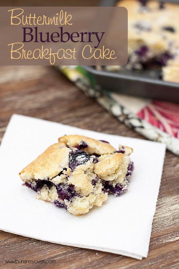 Buttermilk Blueberry Breakfast CakeButtermilk Breakfast, Blueberries Buttermilk, Cake Recipe, Breakfast Healthy, Blueberries Food, Healthy Breakfast, Buttermilk Blueberries, Breakfast Cake, Blueberries Breakfast