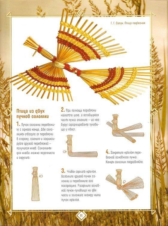 Иллюстрация 15 из 21 для Плетение из соломки: Техника. Приемы. Изделия   Лабиринт - книги. Источник: Oslik IA