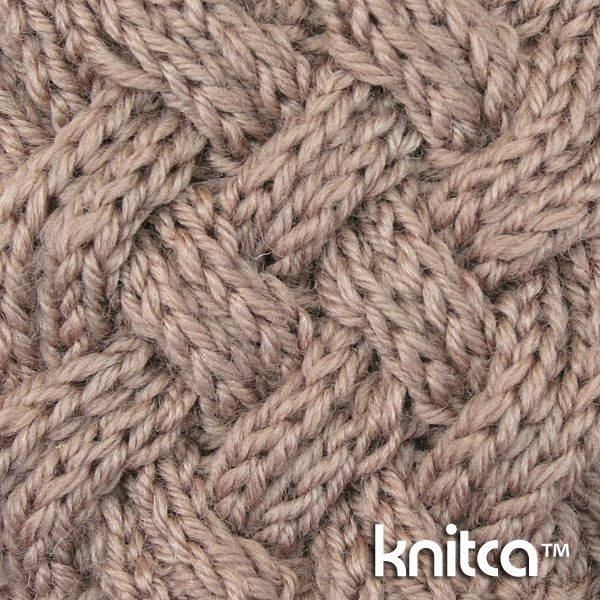 Right side of knitting stitch pattern – Cable 11 : www.knitca.com