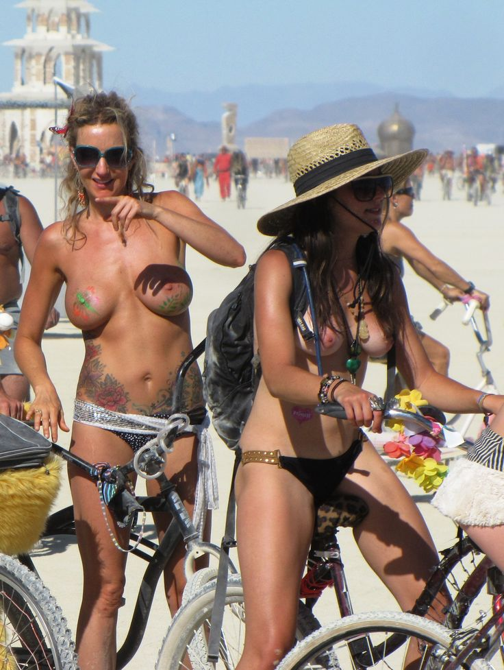 Burning man naked nude
