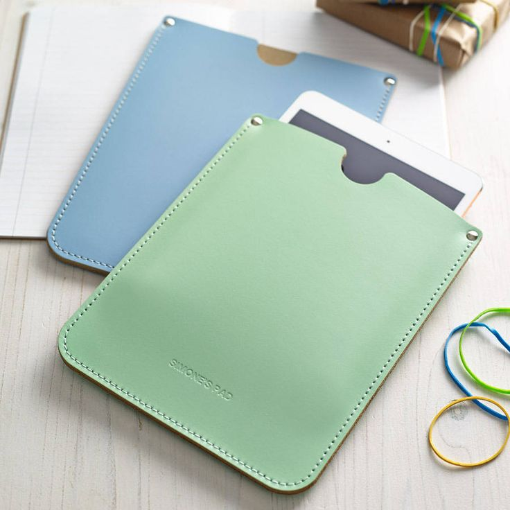 Personalised Corporate Leather Sleeve For iPad from notonthehighstreet.com