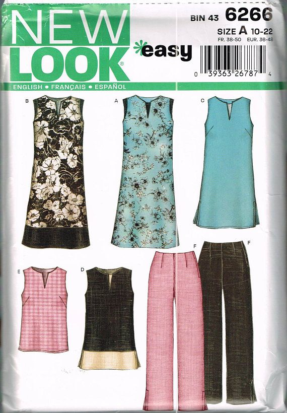 Size 10-22 Misses Easy Plus Size Sewing Pattern - Sleeveless Slot ...
