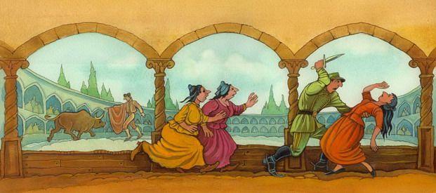 """Olga Monina illustration for """"Carmen""""."""