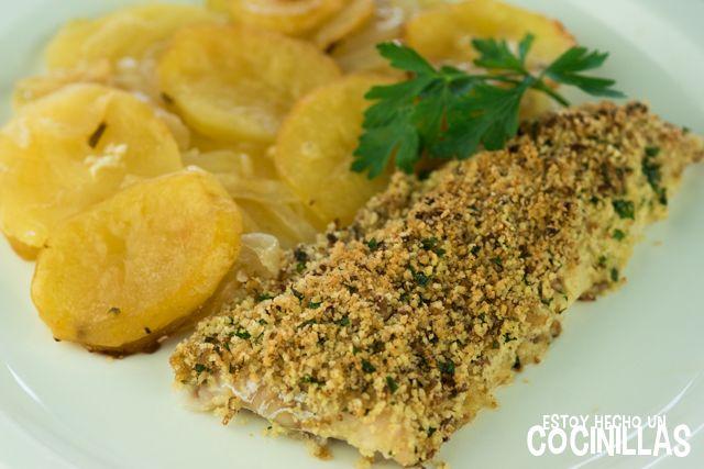 Cómo preparar filetes de pescadilla a la bordelesa. Una receta francesa de pescado al horno buenísima, rápida y con pocos ingredientes. Receta fácil.