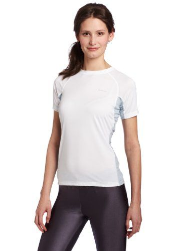 Columbia Women's Base Layer Bug Shield Short Sleeve Top (Medium, White) -- Click on the image for additional details. #WomensCampingClothing