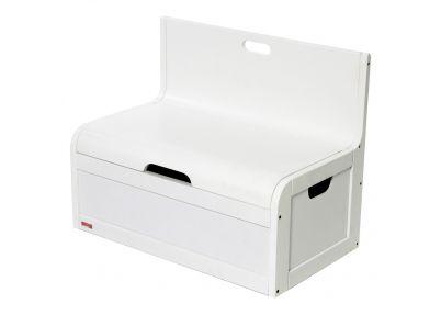 Bankje en opbergkist 'Wave' wit   Bench York white   Tafeltjes en stoelen
