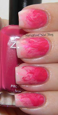 dry brush strokes smoky pink nail art tutorial