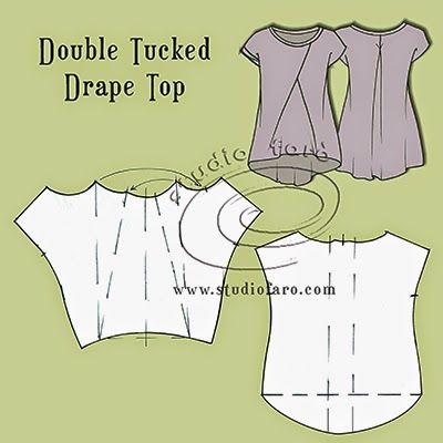 well-suited: Pattern Puzzle - Tucked Drape Tops