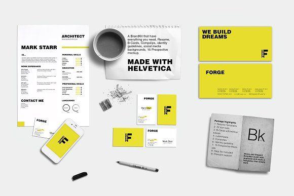 @newkoko2020 Branding Kit + Mockup - Forge by BrandKick on @creativemarket #mockup #mockups #set #template #discout #quality #bulk #buy #design #trend #graphic #photoshop #branding #brand #business #art #design #buymockup #mockuptemplate